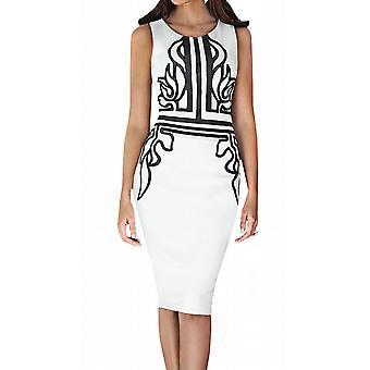Waooh - Dress knee black pattern Vauda