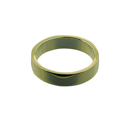18ct Gold 5mm plain flat Wedding Ring Size R