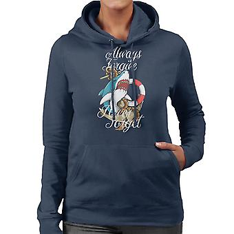 Always Forgive Never Forget Shark And Anchor Women's Hooded Sweatshirt