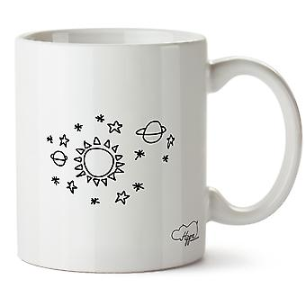Hippowarehouse Sun Star Space Muster gedruckt Mug Tasse Keramik 10oz