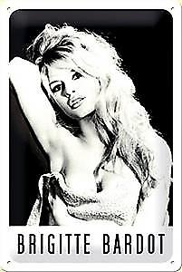 Brigitte Bardot embossed steel sign