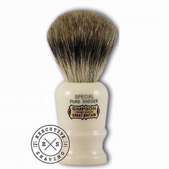 Simpsons Special Pure Badger Hair Shaving Brush in Imitation Ivory