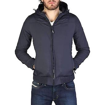 Geographical Norway Chaleur Men Blue Jackets -- Chal318320