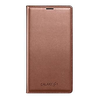 Samsung EF-WG900BFEG Flip Wallet Case for Galaxy S5 in Rose Gold