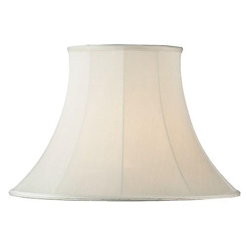 Endon CARRIE-5.5 Carrie Cream Fabric Shade Round Bell Cilp On Shape - 5.5 Inch
