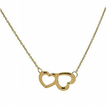 The Olivia Collection Ladies Goldtone Double Heart 18