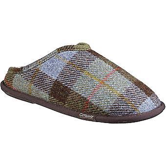 Cotswold mens Lidstone authentiek wollen brei slip op slippers