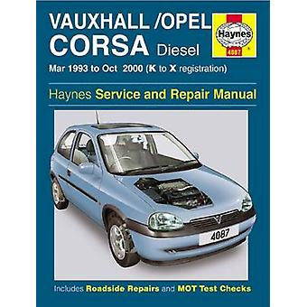 Vauxhall/Opel Corsa Diesel Service and Repair Manual - March 1993-Octo