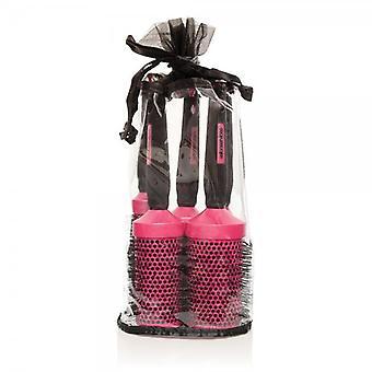 Salon Services Ceramic Brush Set - Rosa