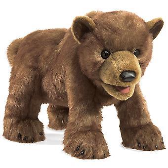 Handpuppe - Folkmanis - Braunbär Cub neue Tiere weiche Puppe Plüsch Spielzeug 3065