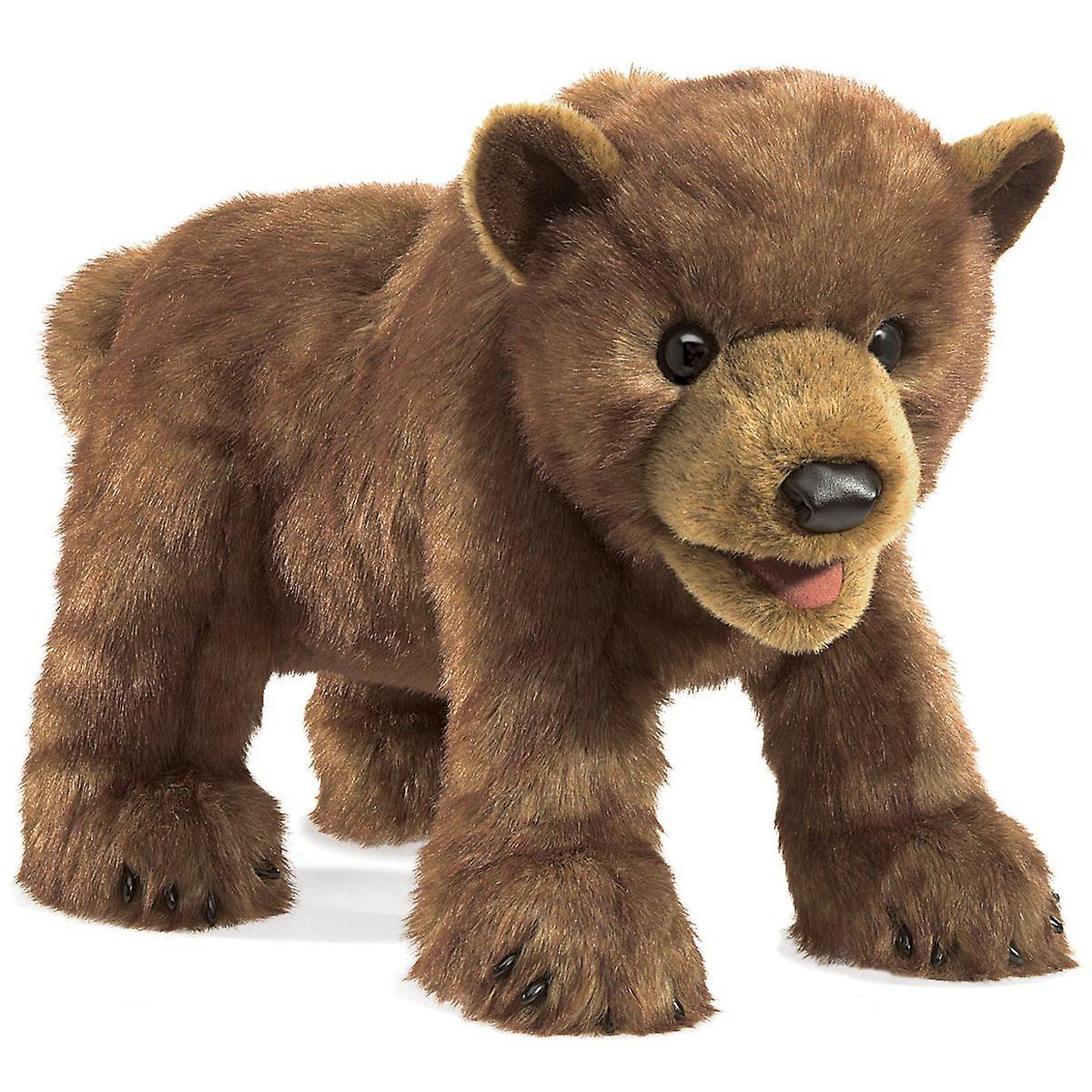 Hand Puppet - Folkhommeis - marron Bear Cub nouveau Animals Soft Doll Plush Toys 3065