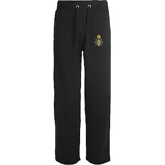 1st The Kings Dragoon Guards WW1 - Licensed British Army Embroidered Open Hem Sweatpants / Jogging Bottoms