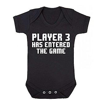 Player 3 has entered the game short sleeve babygrow