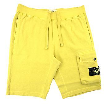 Stone Island 65860 Garment Dyed Shorts Yellow V0138