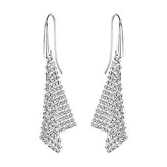 Swarovski Fit Earrings - small - white - rhodio plating