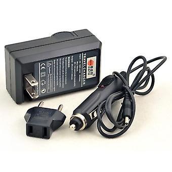BRESSER-oplader til Sony NP-FM500H/NP550/NP750 med strømstik og biladapter