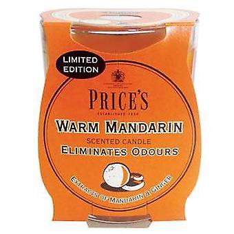 Varmt Mandarin ljus i glasburk med priser