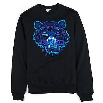 Sweater Kenzo glitter tijger logo zwart/paars