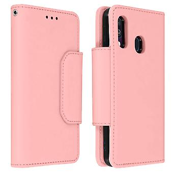 Magnetic Detachable Wallet Folio Case for Samsung Galaxy A40 - Pink