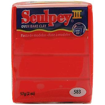 Sculpey Iii Polymer Clay 2 onces rouge chaud rouge S302 583