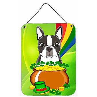 Boston Terrier St. Patrick's Day Wall or Door Hanging Prints BB1947DS1216
