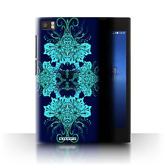 STUFF4 Case/Cover for Xiaomi Mi 3/Blue Flower/Symmetry Pattern