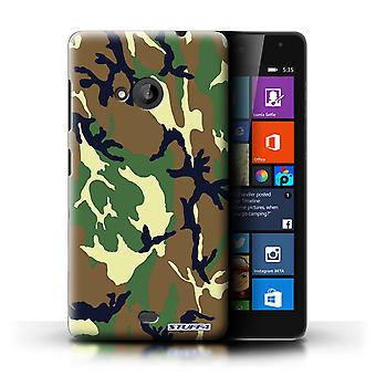 STUFF4 Phone Case / Cover for Microsoft Lumia 535 / Green 4 Design / Camouflage Army Navy Collection