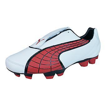 II de PUMA V3.10 i FG Mens cuir Football bottes / cales - blanc