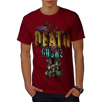 Gothic Metal Death Skull Men Red T-shirt | Wellcoda
