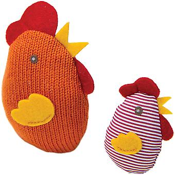Petlinks Knit Nipper Cat Toy-Chicken & Chick 49584