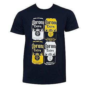 Corona Extra azul Panel Quad Tee Shirt