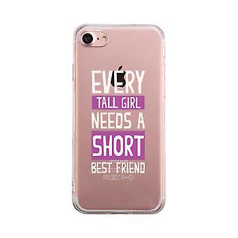 Tall Girl Needs Short Best Friend Transparent Cute Clear Phonecase