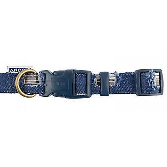 Överseende Nylon justerbar krage lapptäcke blå 45-70cm Sz 5-9