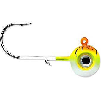 VMC Neon Moon Eye 1/8 Oz. 3D Holographic Jig - 4 Pack - Orange Fire UV