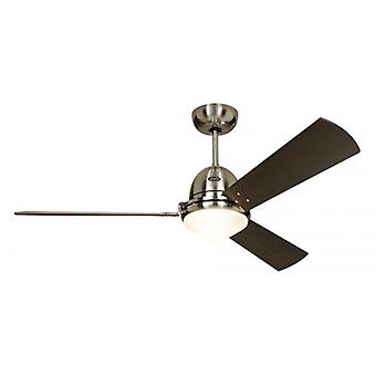 CasaFan ceiling fan LIBECCIO brushed chrome with remote control