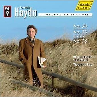 J. Haydn - Haydn: Komplette symfonier nr. 70, No. 73, No. 75 [CD] USA import