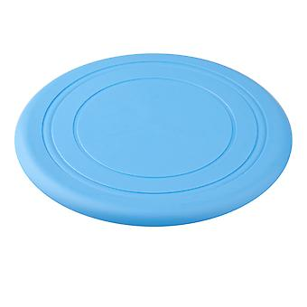 DIGIFLEX Light Blue Soft Silicone Dog Frisbee Medium Flying Disc Toy