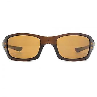 Oakley Fives Squared Sunglasses In Polished Rootbeer Bronze Polarised
