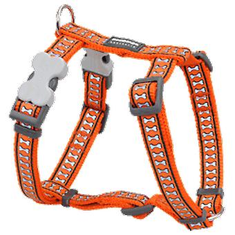 Red Dingo Harness One Touch Reflective Orange
