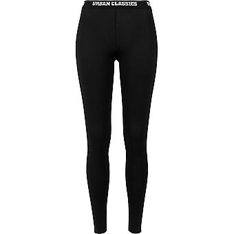 Urban Classics Ladies - Logo Leggings schwarz