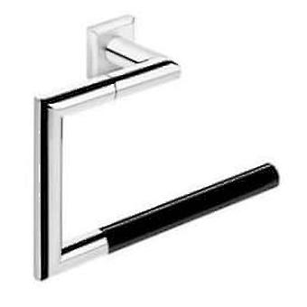 Pomd'or Timeless Chrome Towel Ring - Black Deco 25X9X16 Cm