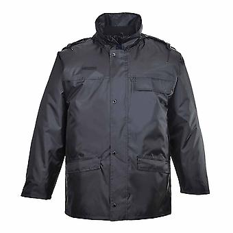 Portwest - Distinguished Waterproof Work Security Jacket With Pack Away Hood
