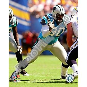 Julius Peppers 2008 Action Photo Print