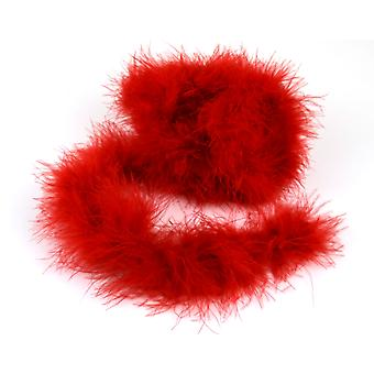 2m Red Marabou Feather Trim For Crafts | Scrapbooking Card Making Embellishments
