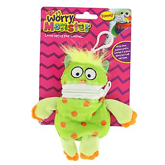 Children's Bright Coloured Mini Worry Monster Clip On Soft Plush Toy 5.5