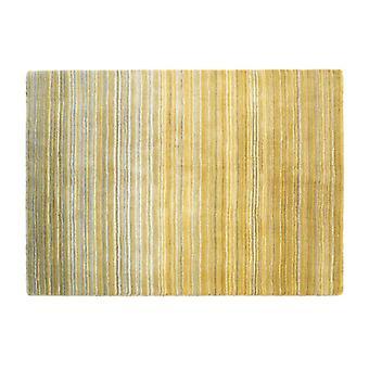 Tapis Plain fine rayure ocre jaune Rectangle tapis Plain/presque
