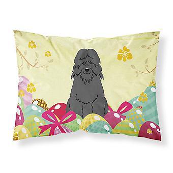 Easter Eggs Bouvier des Flandres Fabric Standard Pillowcase