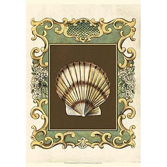 Small Mermaids Shells IV Poster Print by Chariklia Zarris (13 x 19)