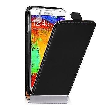 Caseflex Samsung Галактика Примечание 3 Neo реальные кожаный флип случае - черный