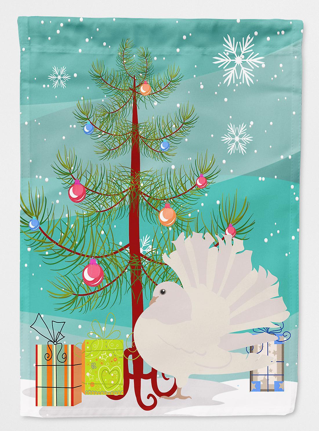 Rhipidure argent Pigeon Noël drapeau Taille maison du canevas